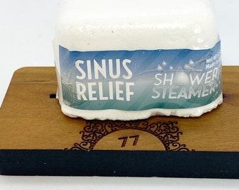 Sinus relief shower steamer