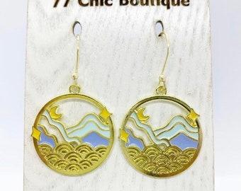 Mountain View charm earrings