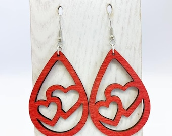 Red heart aspen wood drops