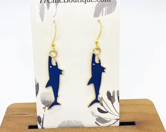 Shark charm earrings