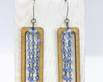 Aspen wood earrings