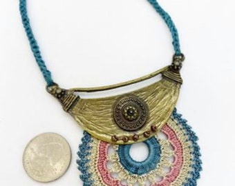 28 inch long crocheted necklace