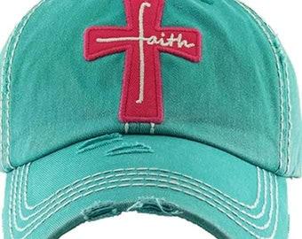 Christian faith Tattered baseball hat