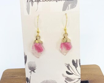 Faux druzy drop earrings