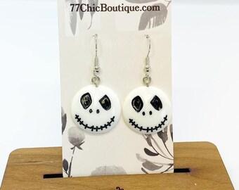 Jack Skellington charm earrings