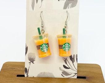 Starbucks drink earrings