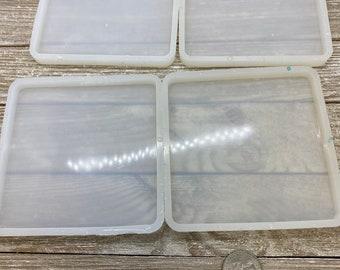 Destash four square silicone coaster molds for epoxy resin