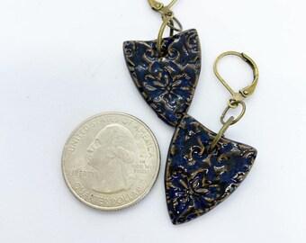 Ceramic earrings on lever backs