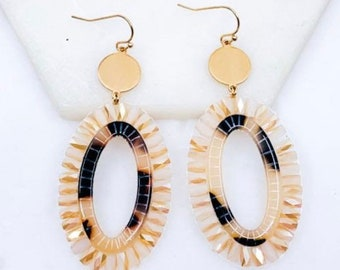 Beaded bohemian earrings
