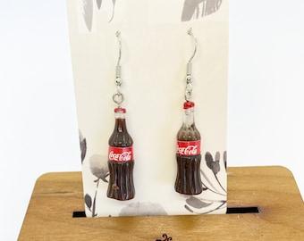 Coke bottle charm earrings