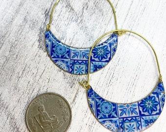 Moroccan style hoop earrings