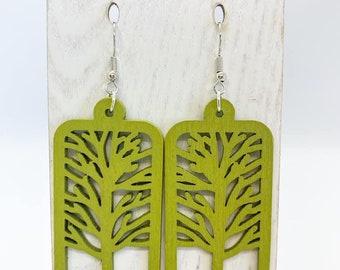 Aspen wood tree of life earrings