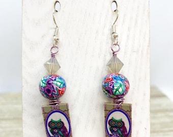 Lightweight art board earrings