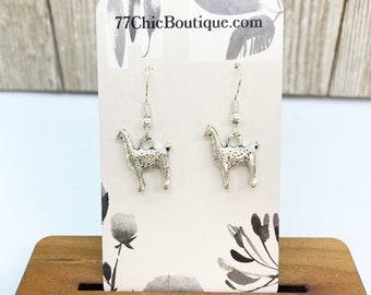 Llama charm earrings