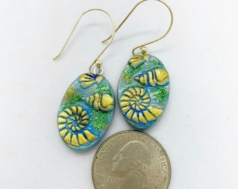 Nautical polymer clay earrings