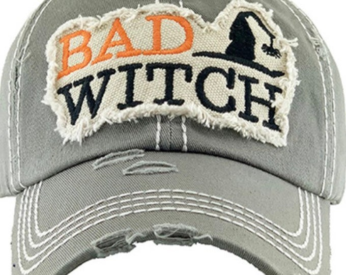 Featured listing image: Bat witch tattered baseball hat