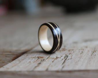 Wenge/double maple ring