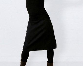 fb2142926993ea Denim skirt black, midi skirt, black skirt, casual skirt, knee length skirt,  a line skirt, jean skirt, plus size skirt, womens skirt