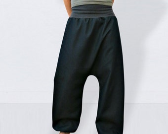 Blue baggy jeans, wide leg jeans, mom jeans, plu size clothing, denim baggy pants, drop crotch jeans, loose fit jeans, plus size pants
