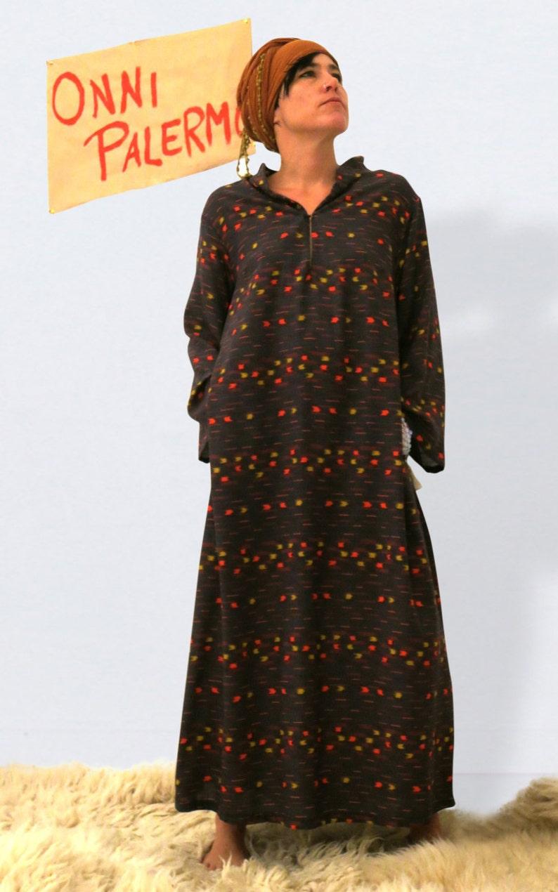 Langes Kleid EthnoKaftan KleidBoho Gemustertes Bohemien Festival Maxi Oversized Gypsy UjSVpzqGLM