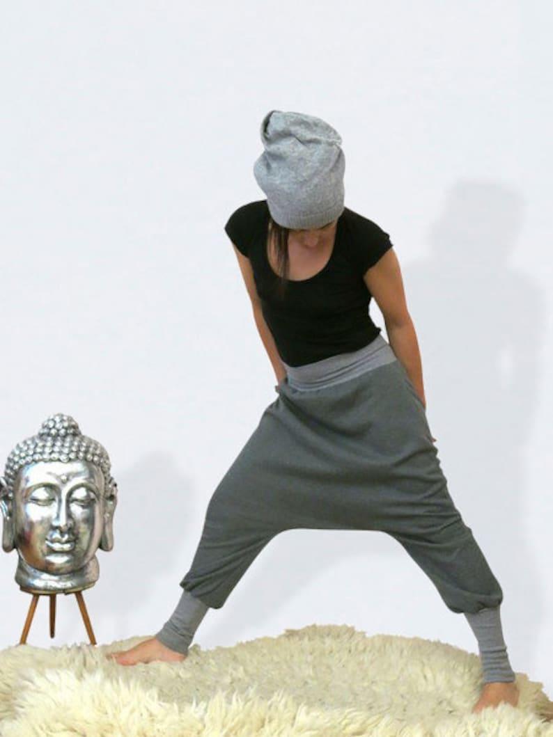 Grey  women harem pants made of sweat gift for women plus image 0