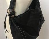 JIMMY CHOO Very Large Authentic Leather Tote Hobo Bracelet Bag Free Shipping