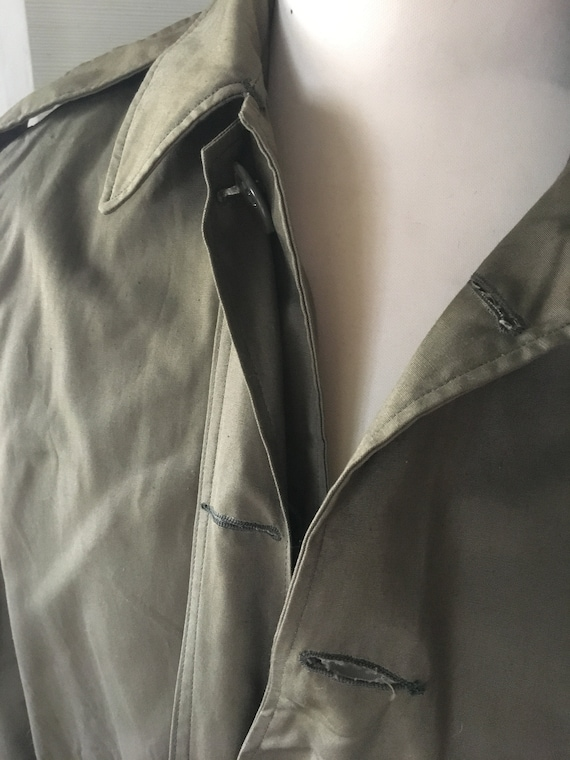 VINTAGE MILITARY Coat Overcoat Raincoat Jacket 19… - image 7