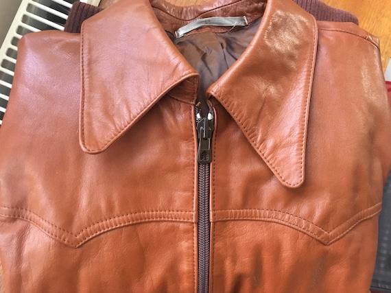 SWEDISH Vintage Leather Jacket Unisex 1970s