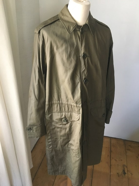 VINTAGE MILITARY Coat Overcoat Raincoat Jacket 19… - image 3