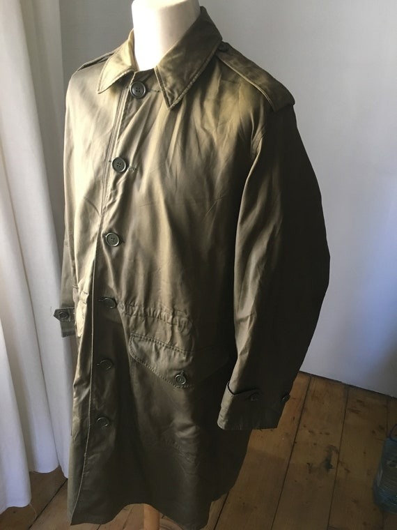 VINTAGE MILITARY Coat Overcoat Raincoat Jacket 19… - image 2