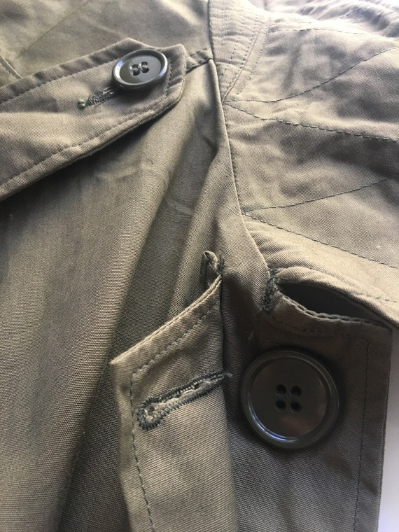 VINTAGE MILITARY Coat Overcoat Raincoat Jacket 19… - image 10
