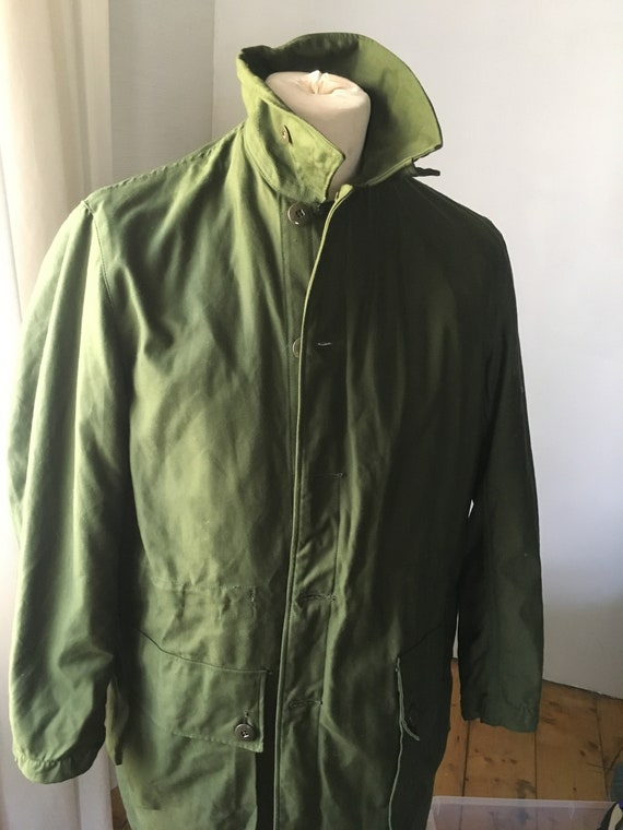 SWEDISH Military Army Vintage Parka Coat Jacket Wi