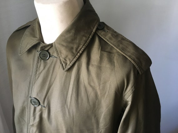 VINTAGE MILITARY Coat Overcoat Raincoat Jacket 19… - image 1