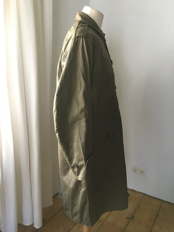 VINTAGE MILITARY Coat Overcoat Raincoat Jacket 19… - image 5