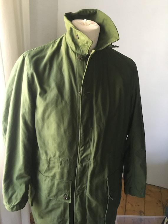 SWEDISH Military Army Vintage Parka Coat Jacket Wi
