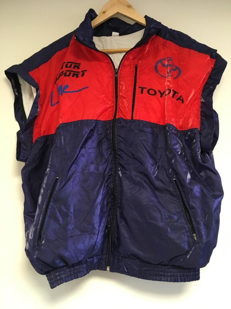 Team Motorsport 1990s Racing Vintage Toyota Automobile Vest Jacket Waistcoat 1cTKJFul3