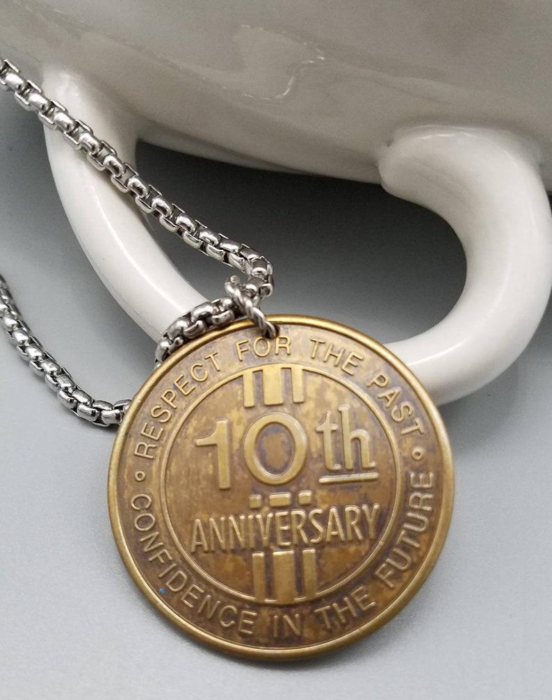 Nostalgic Collectible New River Gorge Bridge Day 10th Anniversary Commemorative Coin Pendant Necklace Historic