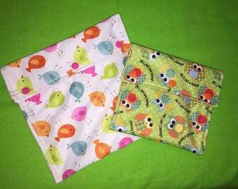 reusable washable snack baggie all sizes