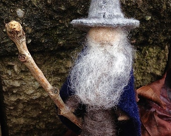 Gandalf the Grey Felt Figure, Lord of the Rings, Needle Felted, Miniature, Wizard, Middle-Earth, The Hobbit