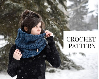 CROCHET PATTERN: Slouchy Ribbed Cowl