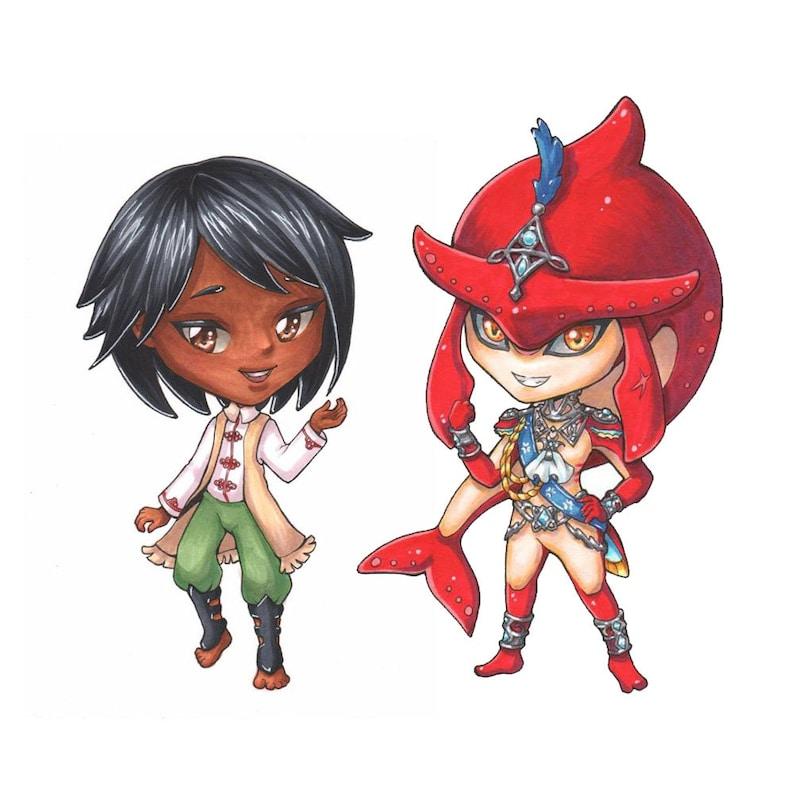 Copic Marker Anime Manga Style Custom Chibi Commission Fanart or Original Character