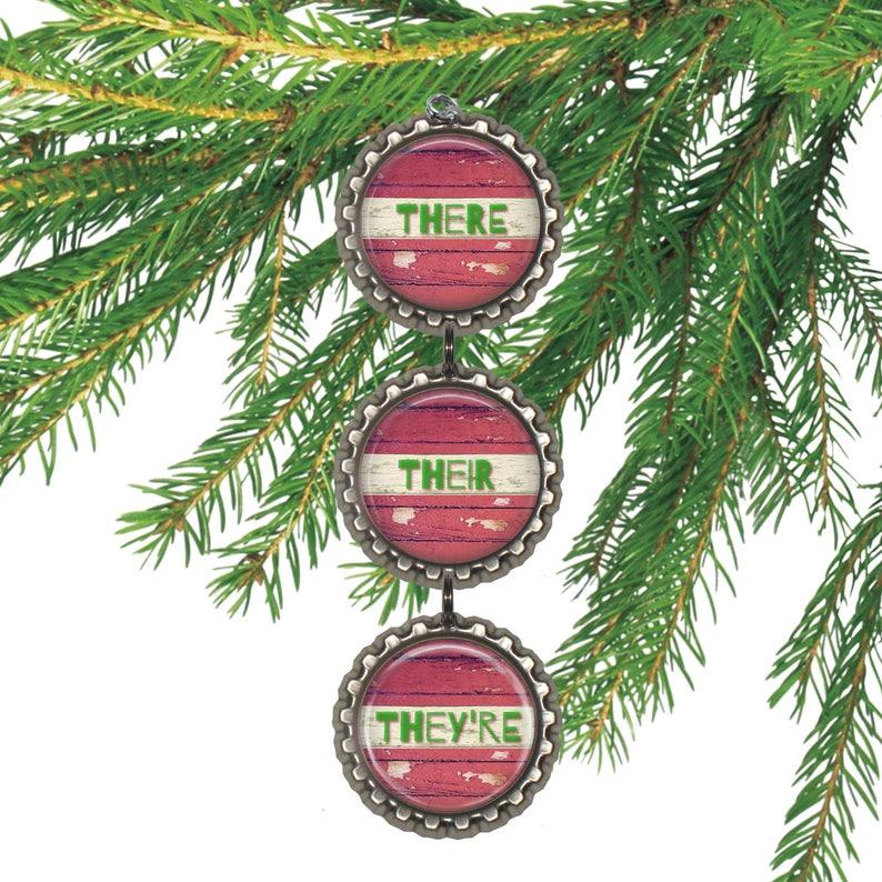 Christmas ornament teacher gift for writer humorous grammar image 0