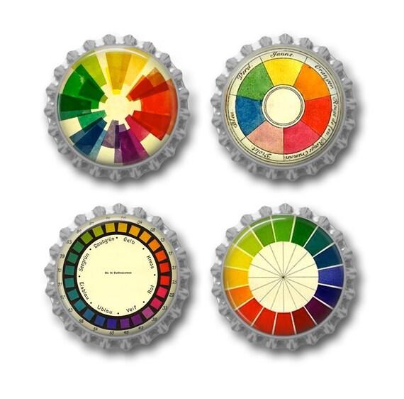 Color Wheel Magnets Vintage Color Wheel Artist Gift For Art Etsy