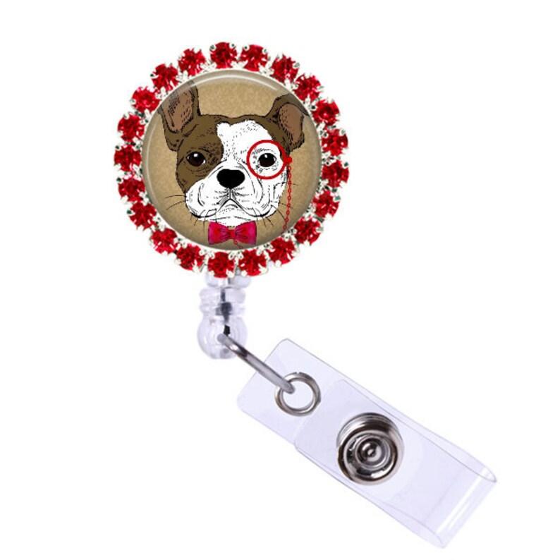 Ophthalmology nurse badge reel, veterinarian badge, glasses,  ophthalmologist badge ID holder, veterinary nurse retractable swivel clip  badge