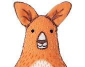 Kangaroo - Embroidery Kit