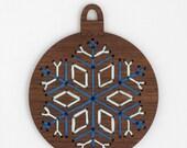 Snowflake - Stitched Ornament Kit