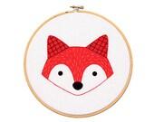 Fox Cub - Hoop Art Kit