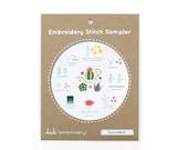 Succulent - Embroidery Stitch Sampler