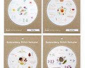 Four Seasons Set - Embroidery Stitch Sampler
