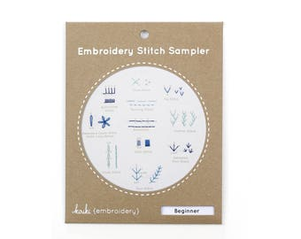 Beginner - Embroidery Stitch Sampler